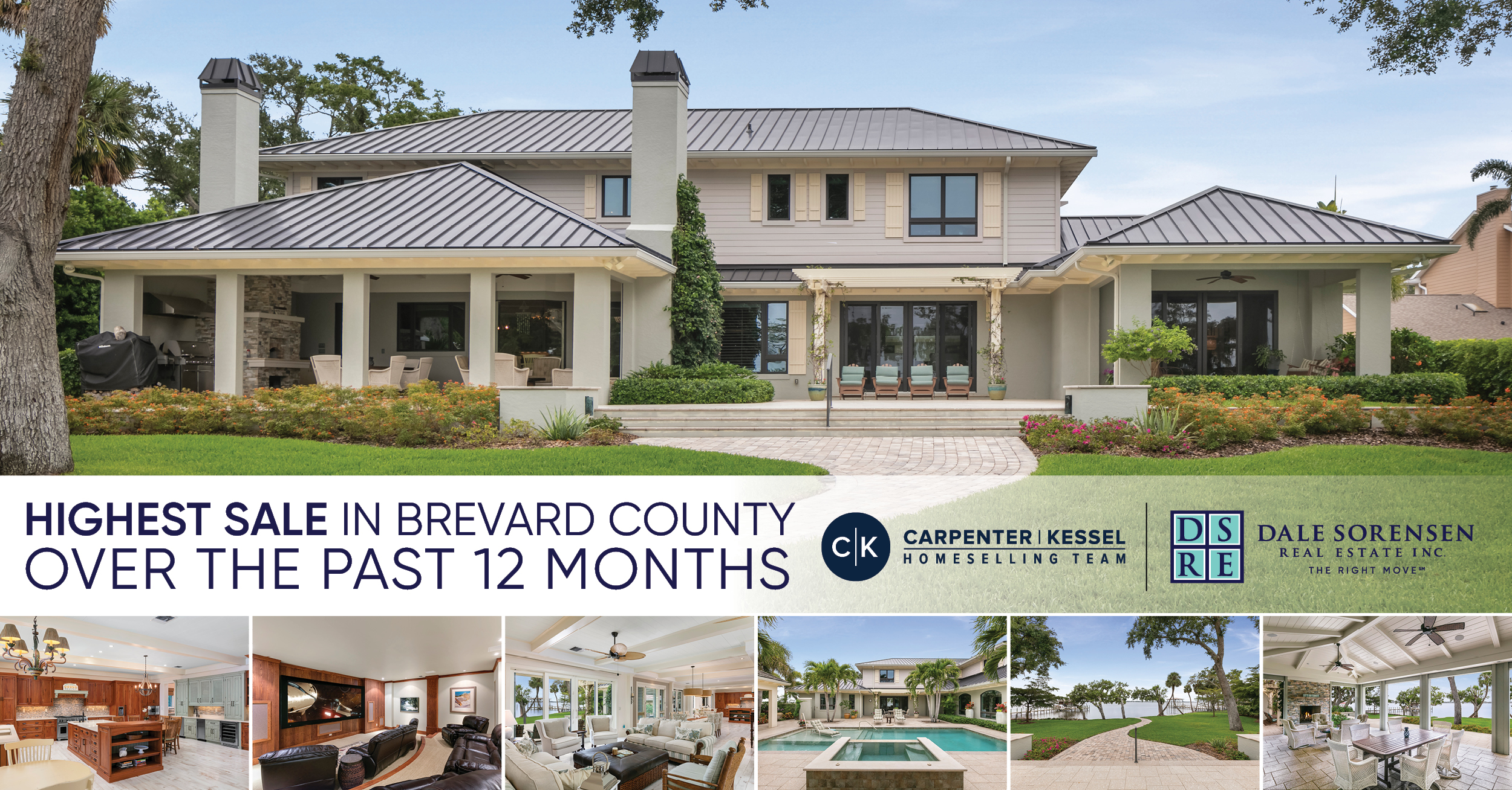 Highest Sale in Brevard County Over the Past 12 Months | Carpenter | Kessel Homeselling Team | Dale Sorensen Real Estate THE RIGHT MOVE