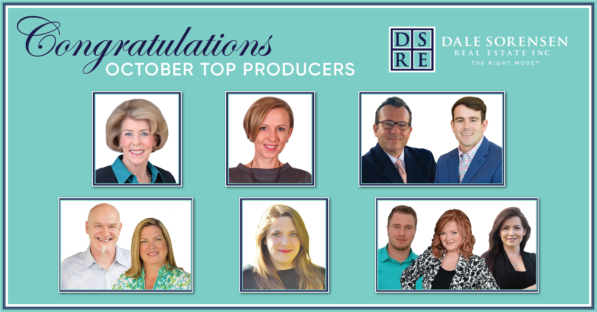 Congratulations October Top Producers | Dale Sorensen Real Estate THE RIGHT MOVE