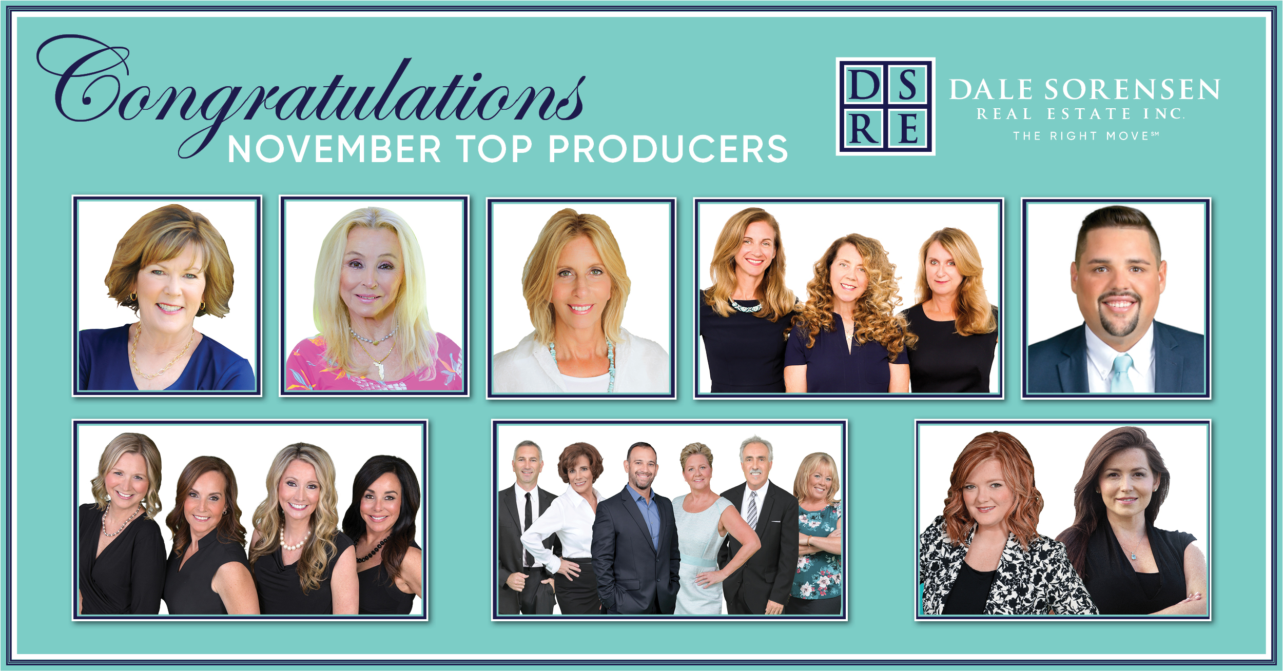 Congratulations November Top Producers | Dale Sorensen Real Estate Inc THE RIGHT MOVE