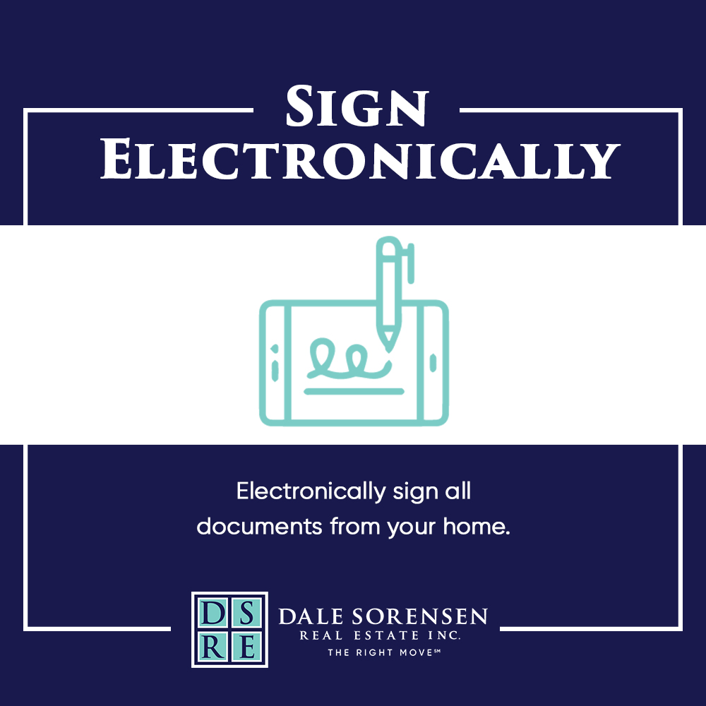 Sign Electronically  Electronically sign all documents from your home.