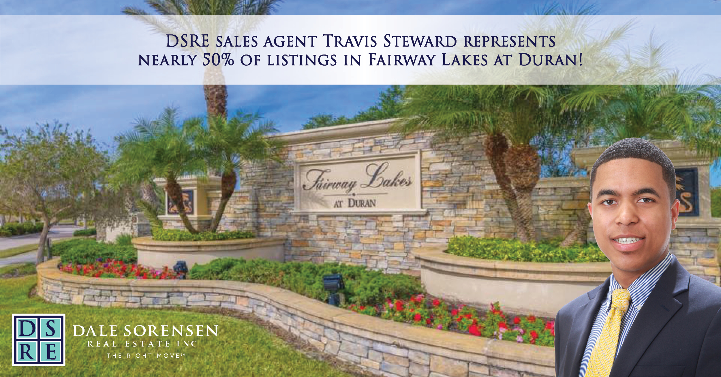 DSRE sales agent Travis Steward represents nearly 50% of listings in Fairway Lakes at Duran