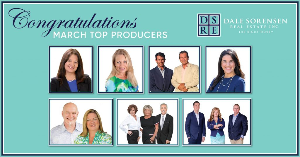Indian River County Dale Sorensen Real Estate Top Realtor Producers March 2021